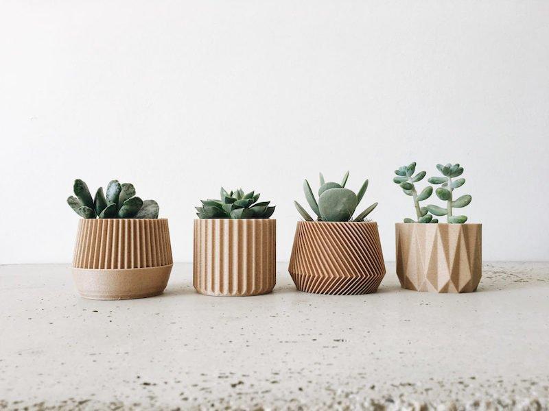 Cache Pots Bois Minimum Design