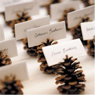 Porte Nom Pomme De Pin Deco Noel